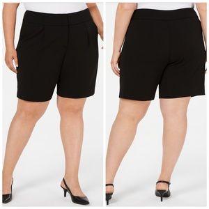 22W 24W Alfani Black Wide Waistband Shorts Plus
